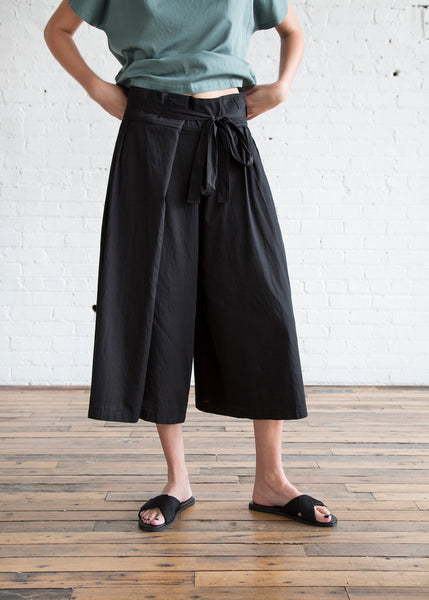 Black Crane Origami Culotte Pants Black - SOLD OUT