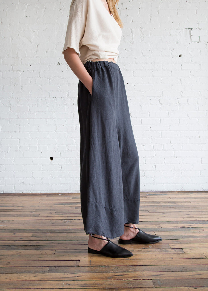 Black Crane Crinkle Pants Dark Grey - SOLD OUT