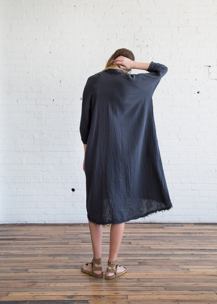 Black Crane Double Gauze Dress Dark Grey - SOLD OUT