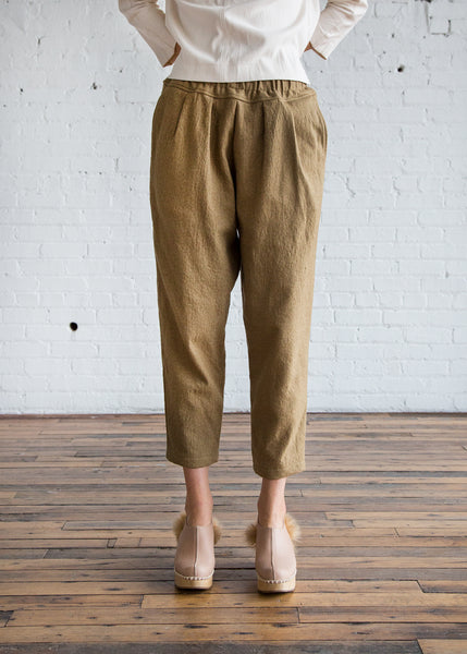 Black Crane Heavy Carpenter Pants Khaki