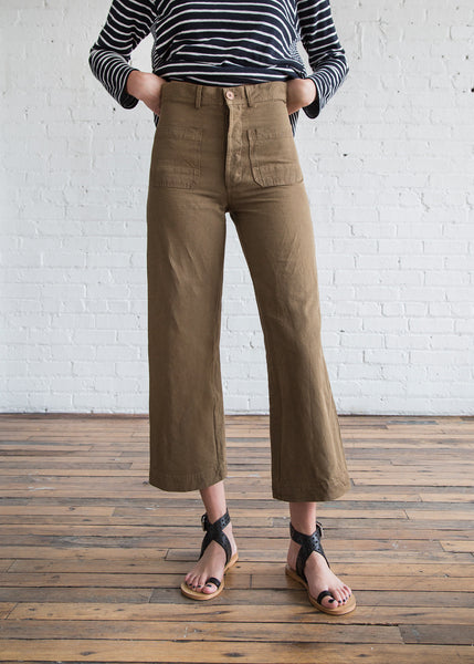Caron Callahan Stewart Pant in Camel Canvas - SOLD OUT
