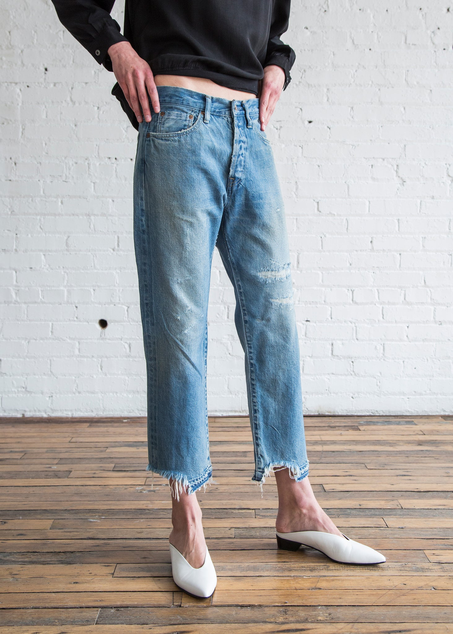 Chimala Selvedge Denim Used Ankle Cut Vintage Light