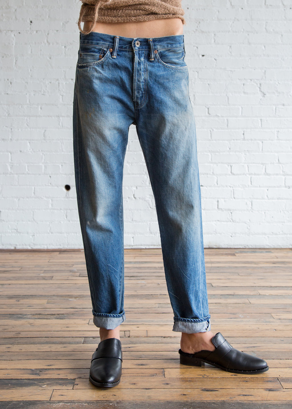 Chimala Selvedge Denim Narrow Tapered Cut Medium Distress