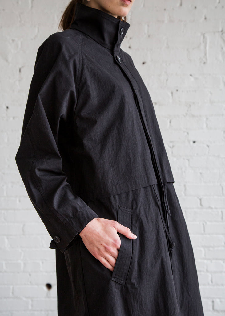 Chimala Stand Collar Coat Black/Cotton