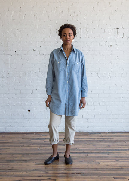 Chimala US Chambray Long Shirt Light Chambray - SOLD OUT