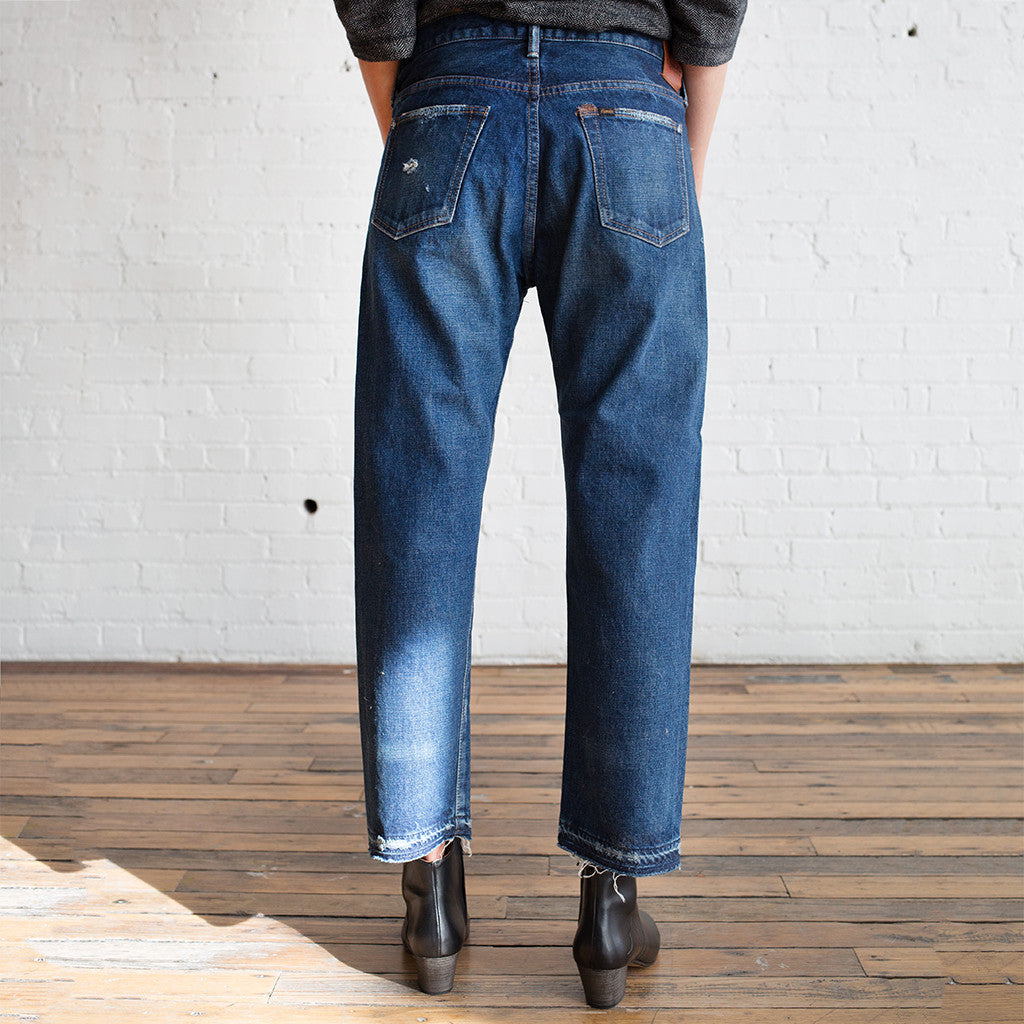 Chimala Used Ankle Cut Jeans Vintage Repair