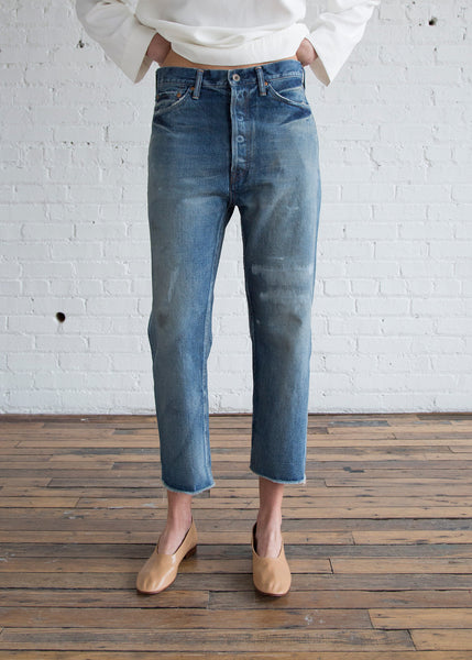 Chimala Selvedge Denim Wide Tapered Cut Vintage Repair