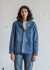 Chimala Damaged Denim Work Jacket Vintage Wash