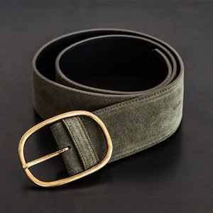Closed - Closed Women's Belt Shadow Green  -  Finefolk
