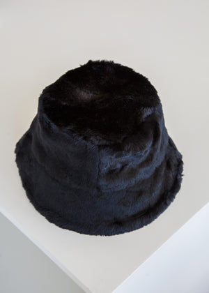 Clyde Fur Bucket Hat Black - SOLD OUT