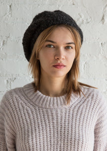 Clyde Mohair Beret Charcoal - SOLD OUT
