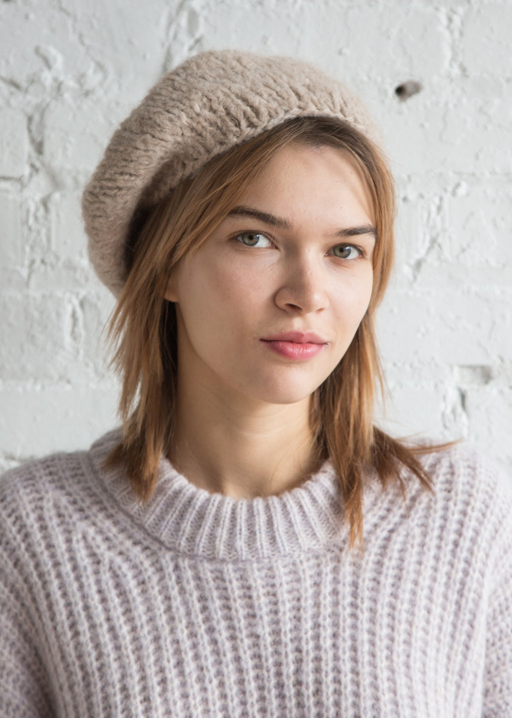 Clyde Mohair Beret Oatmeal - SOLD OUT
