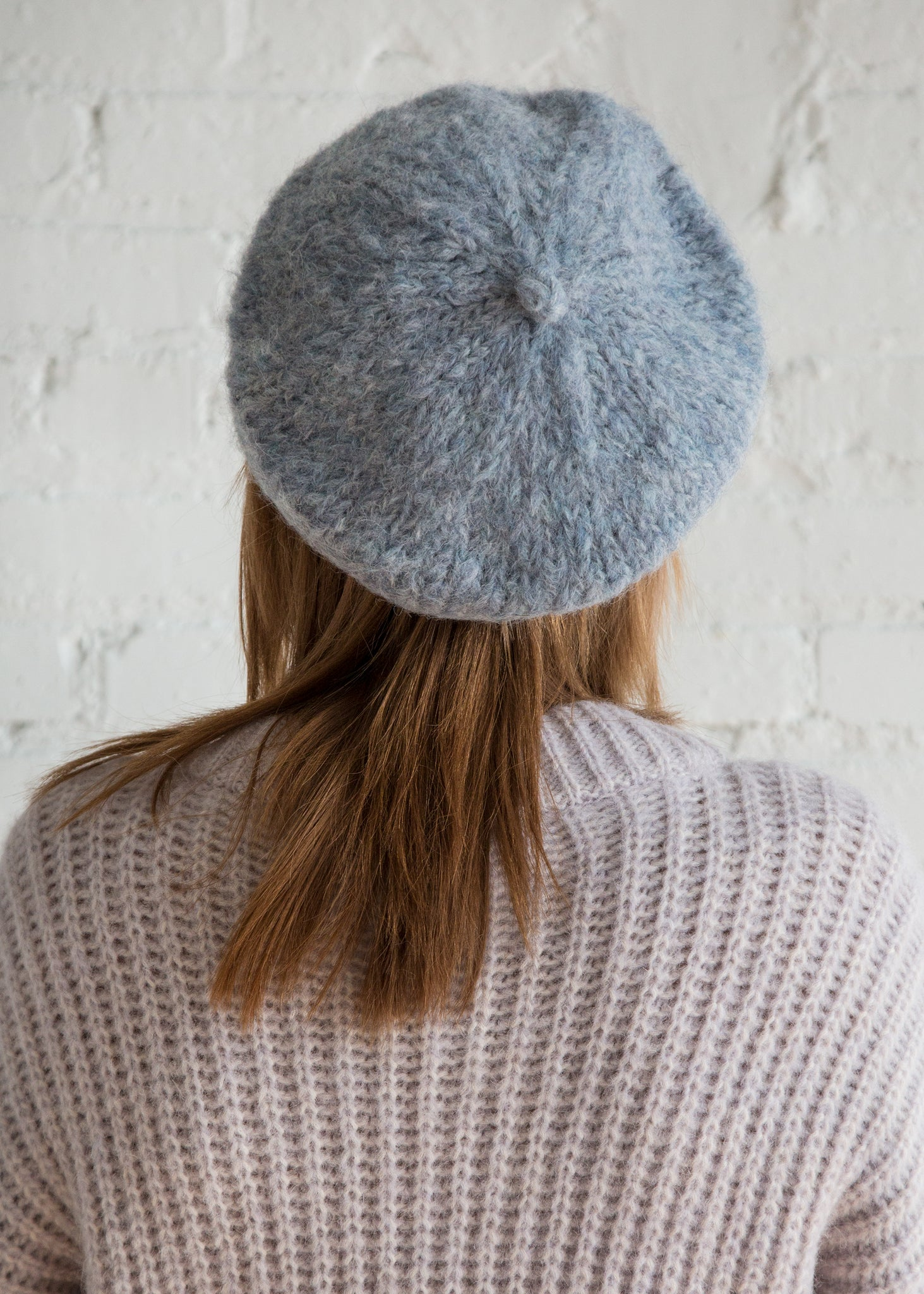 Clyde Mohair Beret Powder Blue