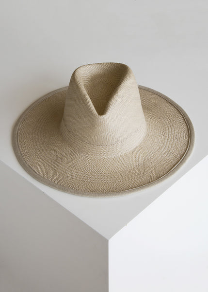 Clyde Wide Brim Panama Hat Putty/Panama Straw