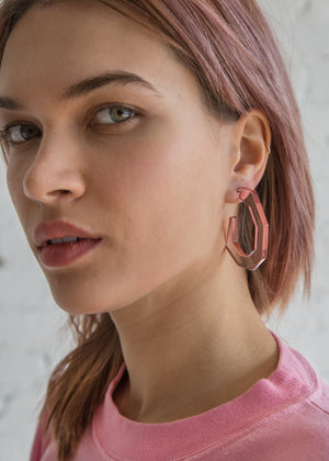 Rachel Comey Baby Factor Earring Clear Pink - SOLD OUT