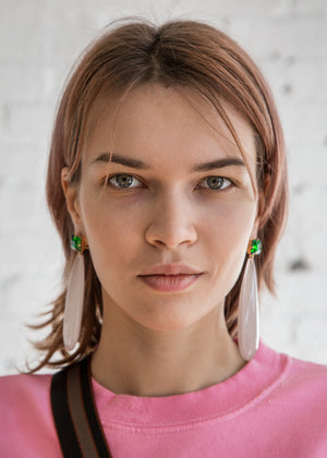 Rachel Comey Camber Earring Green Beige - SOLD OUT