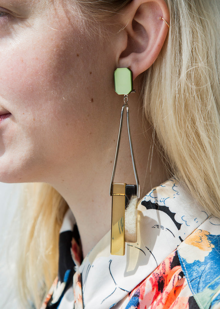 Rachel Comey March Earring Neutral Acetate