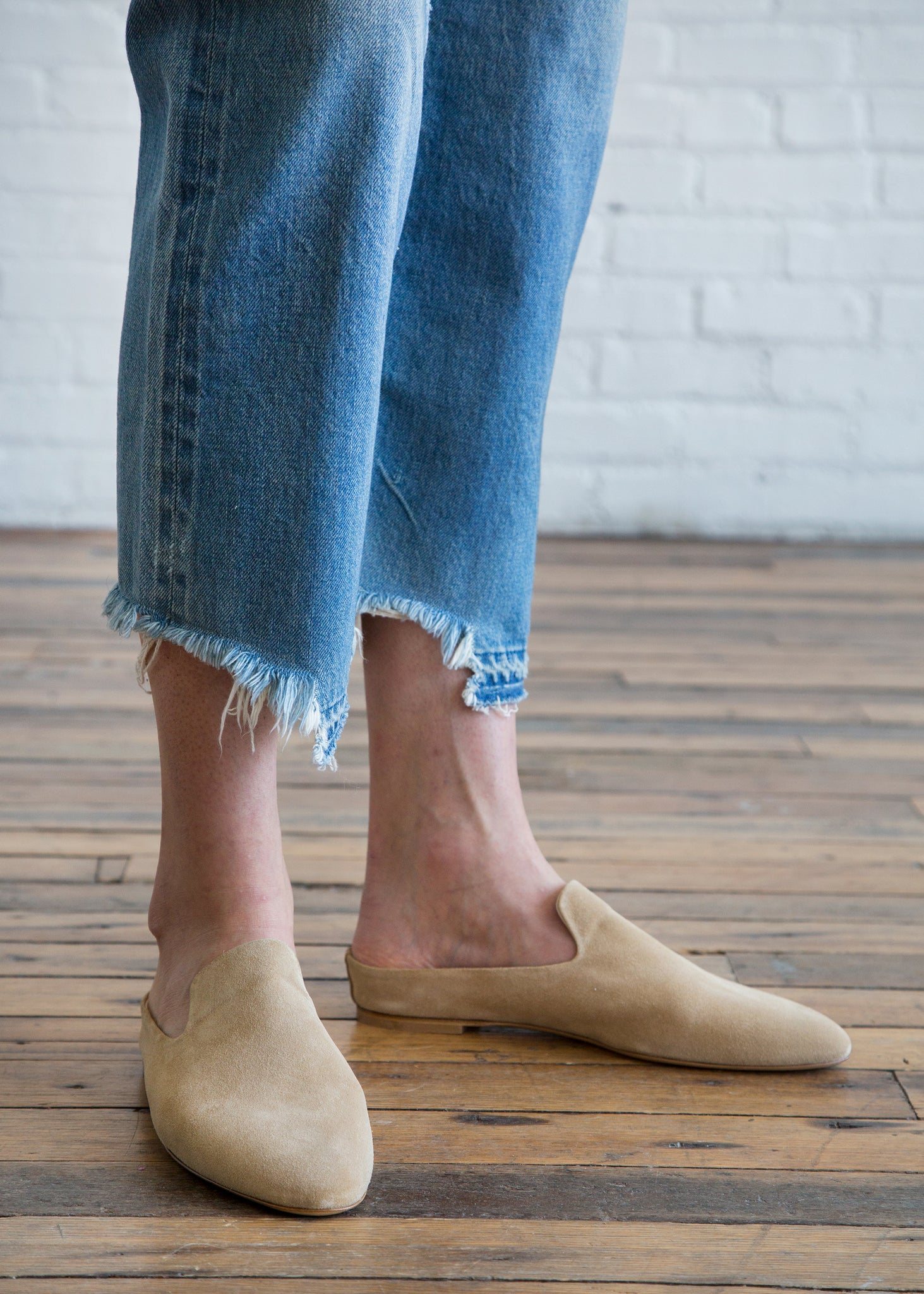 Women by Common Projects Loafer in Suede Tan