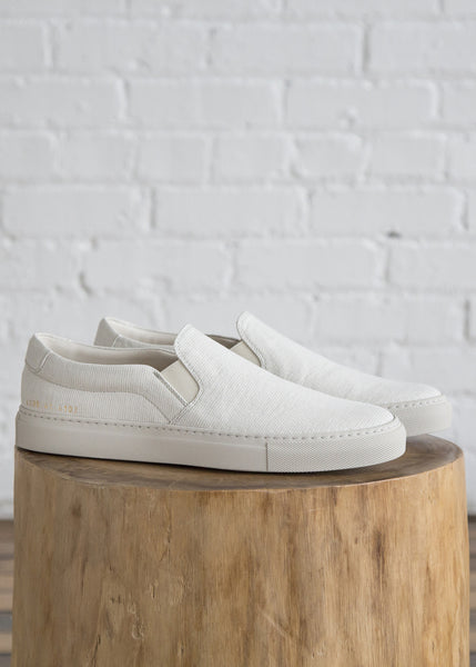 Common Projects x 6397 Denim Slip On White Stripe