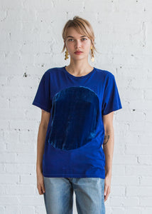 Correll Correll Velvet Circle Crewneck T-Shirt Blue - SOLD OUT