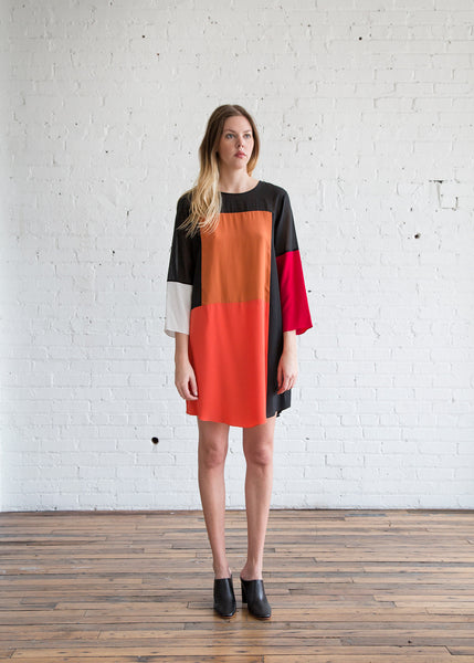 Correll Correll Stopa Dress Black, Orange, Red & White