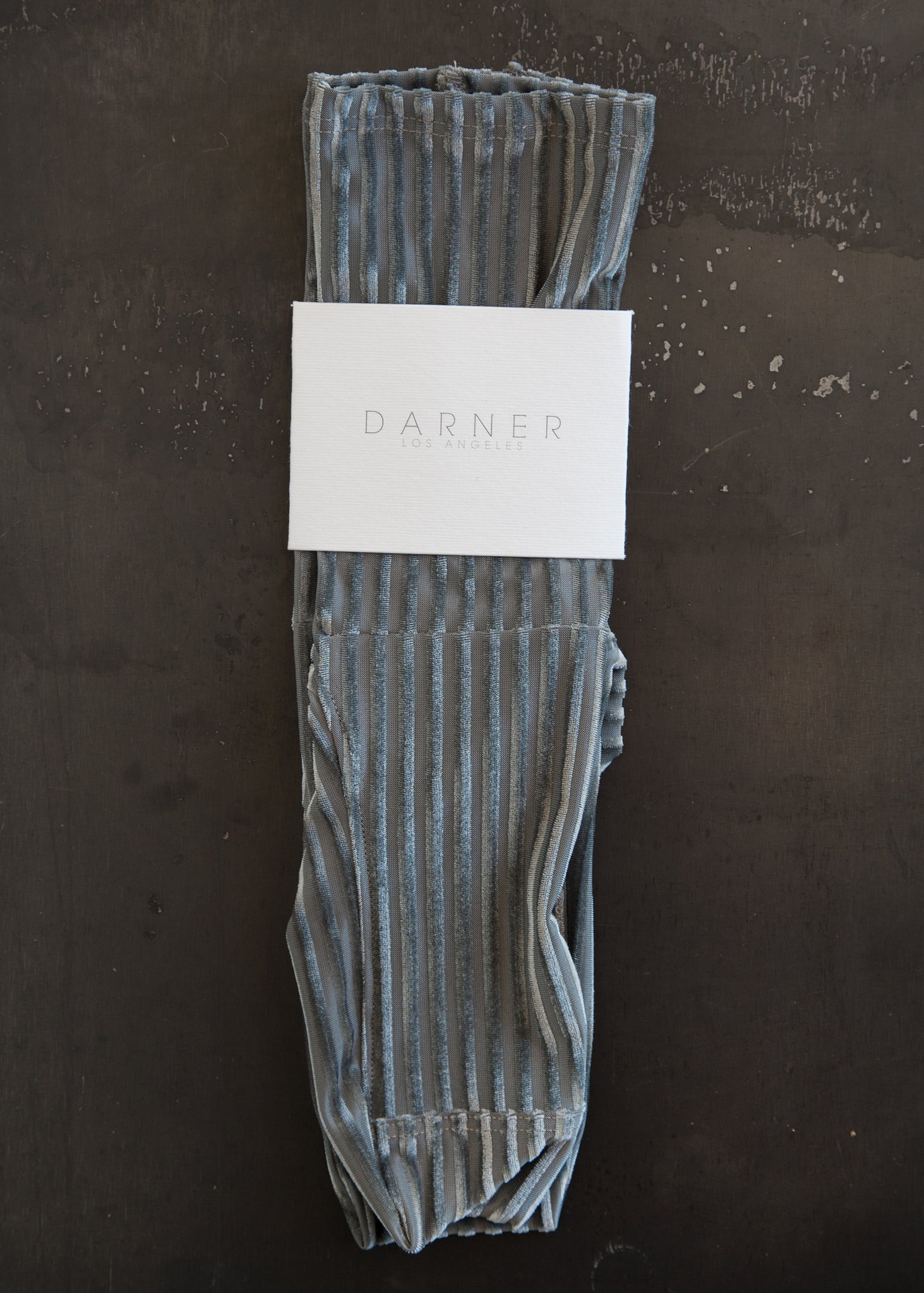 Darner Socks Charcoal Velvet - SOLD OUT