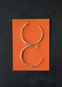 Medium Vero Hoops Sterling Silver