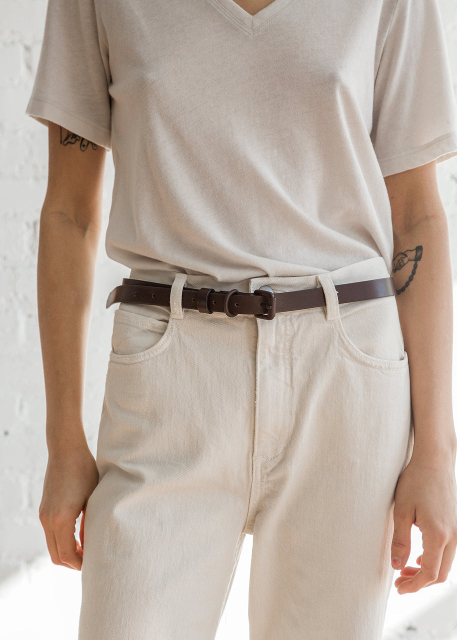 Narrow Belt in Brown