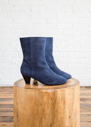 Intentionally Blank Belle Boot Blue Suede