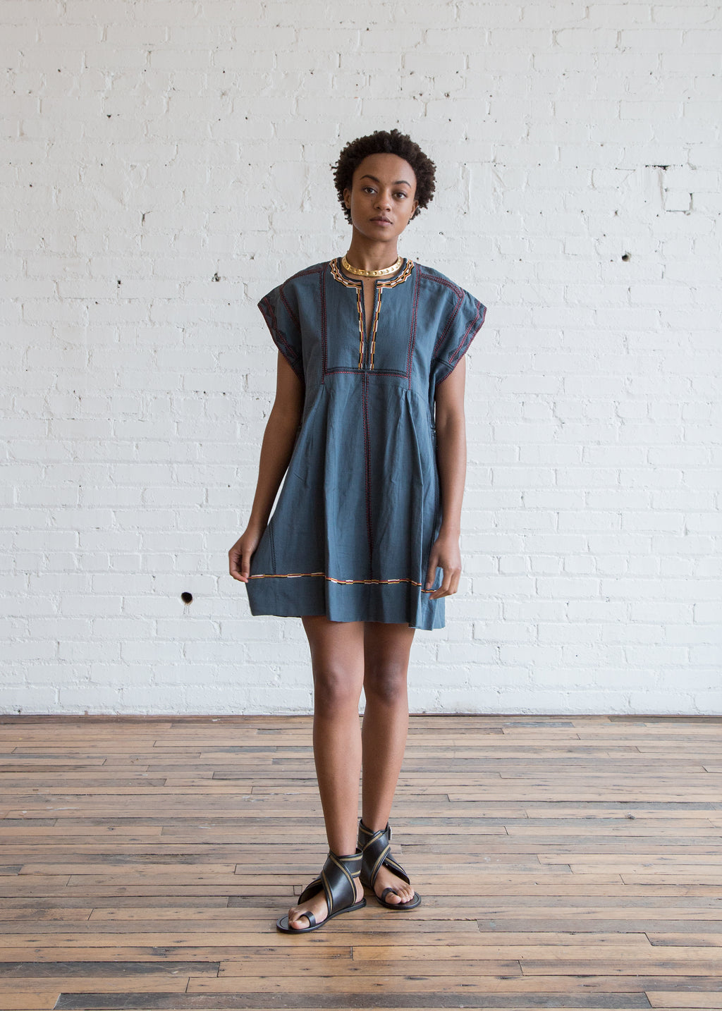 Isabel Marant Etoile Belissa Dress Slate Blue $180