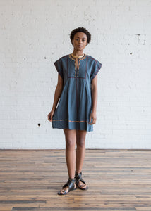 Belissa Dress Slate Blue $180