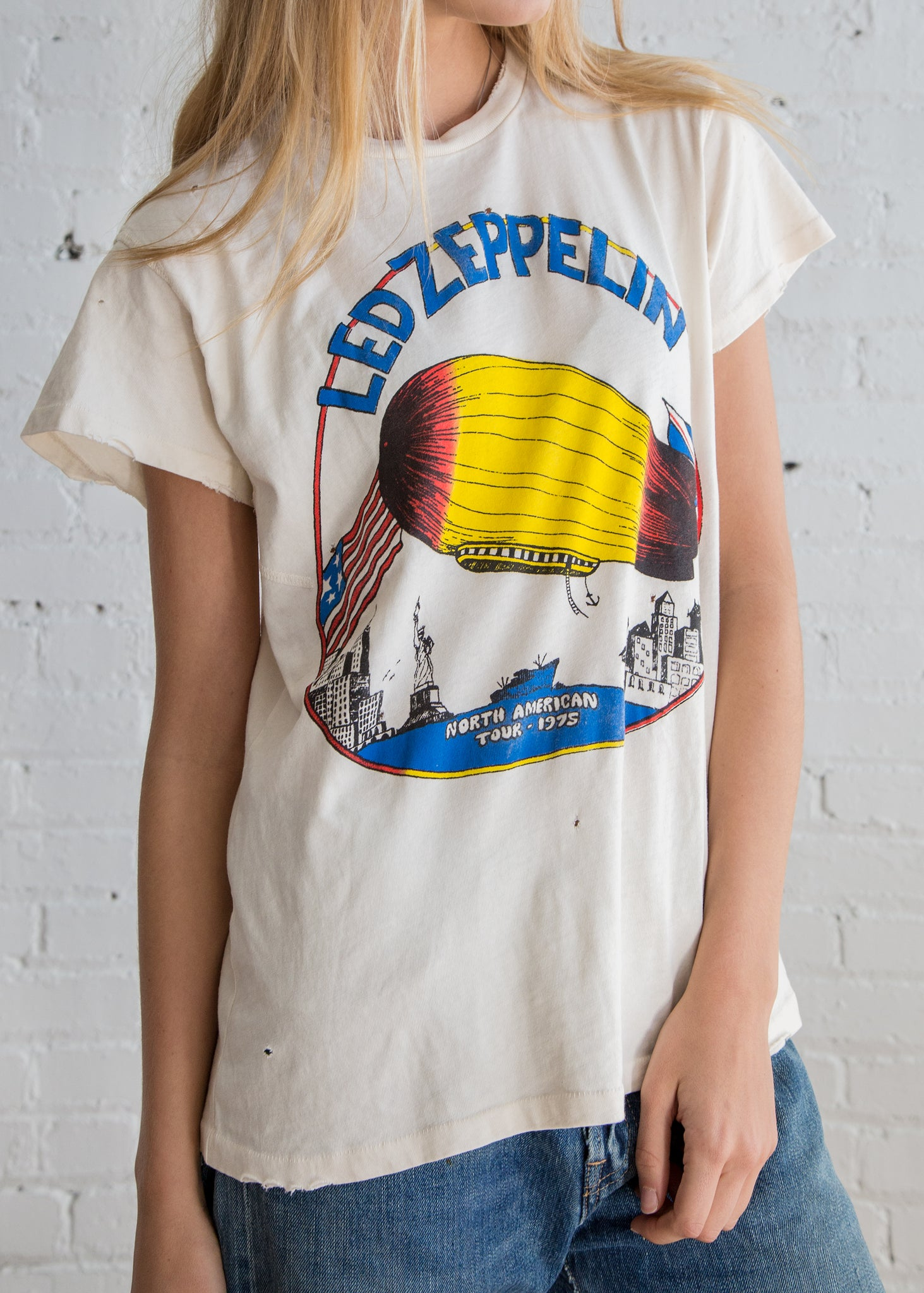 Made Worn Led Zeppelin N. American Tour Dirty White - SOLD OUT