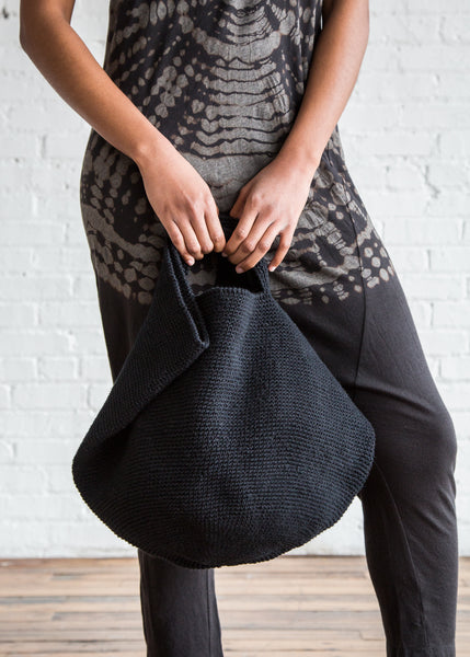 Lauren Manoogian Crochet Bowl Bag Black