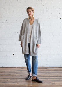 Lauren Manoogian New Wide Cardigan Natural Grey - SOLD OUT