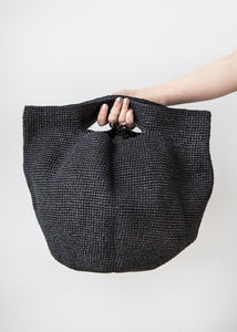 Paper Bowl Bag in Black
