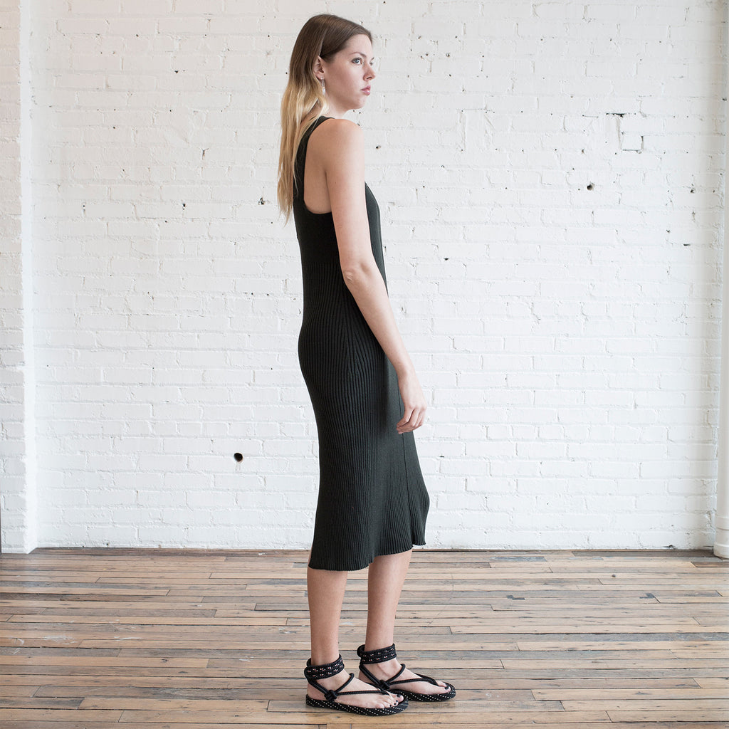 Lauren Manoogian Rib Dress Pine Black