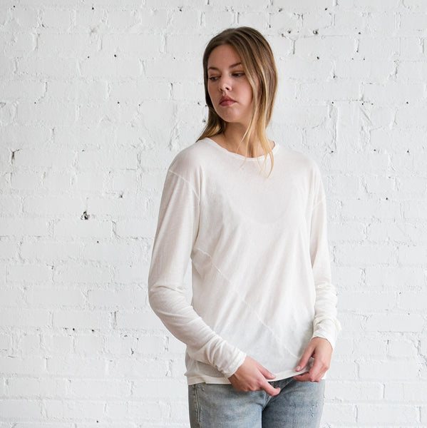 Lauren Manoogian Vellum Long Tee Bone