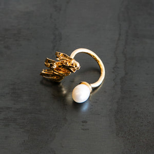 Mirit Weinstock Party Ornament and Pearl Ring