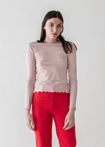 Ali Reversible Tee in Jersey Knit Ballet