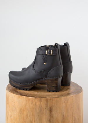 No.6 5' Buckle Boot Mid Black Coffee