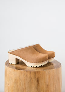No.6 New School Clog Mid Caramel Pony - SOLD OUT