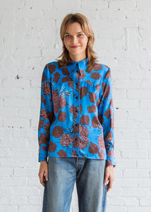 No.6 Sergio Western Shirt Electric Blue Faux-Croix