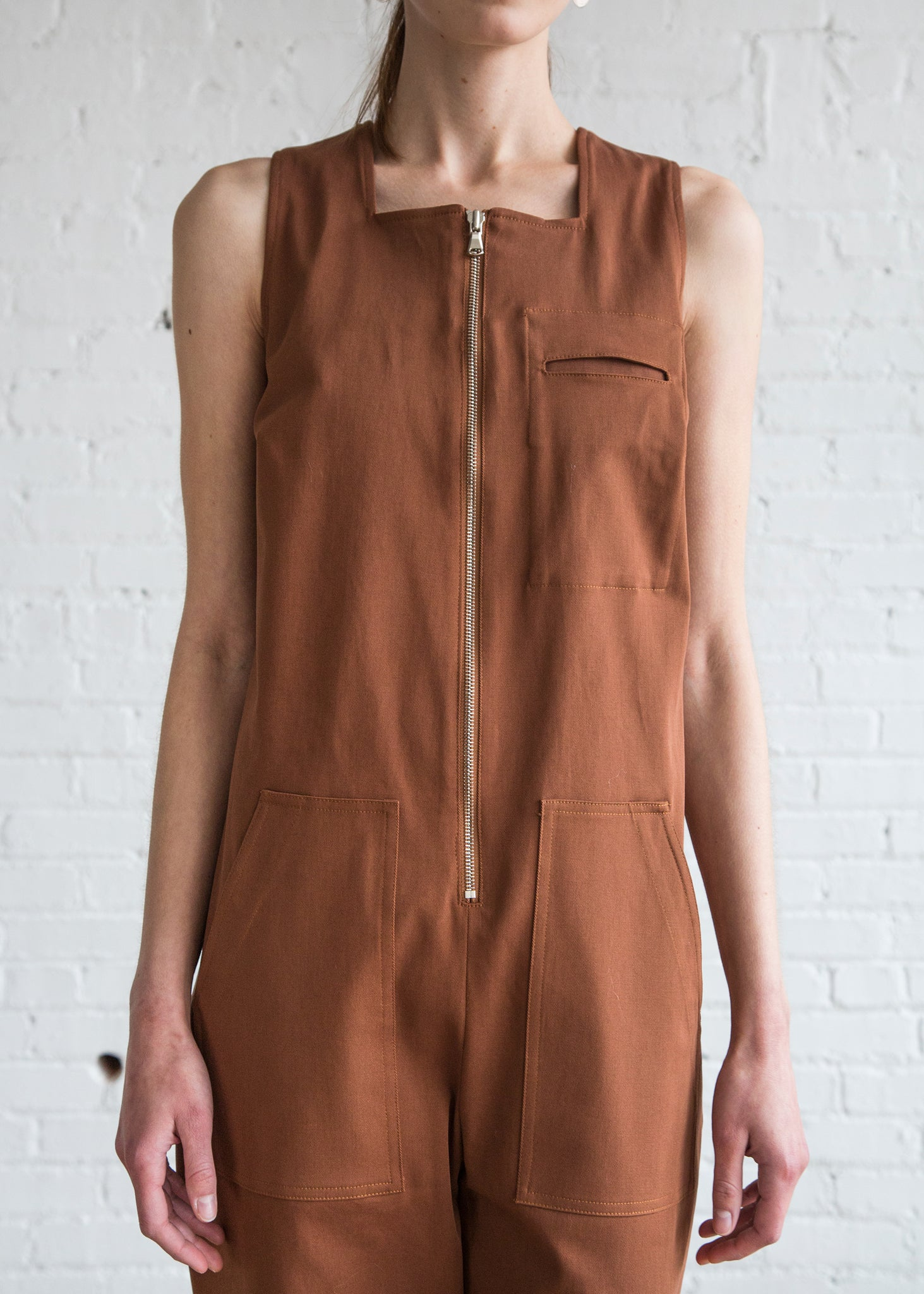 Nomia Utility Jumpsuit Tobacco