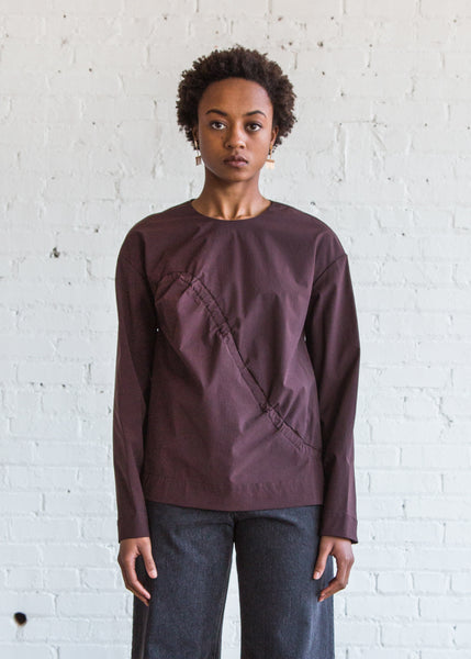 Nomia Shirred Front Tunic Bordeaux