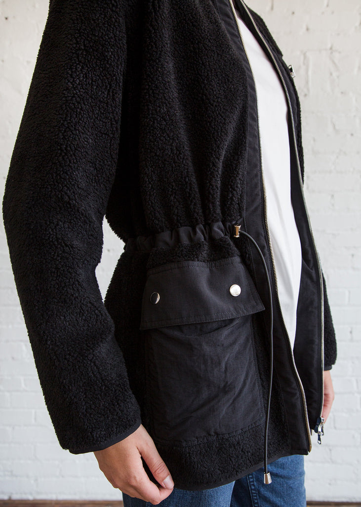 Nomia Utility Sherpa Jacket Black
