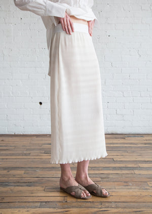 Nomia Pleated Skirt Ivory