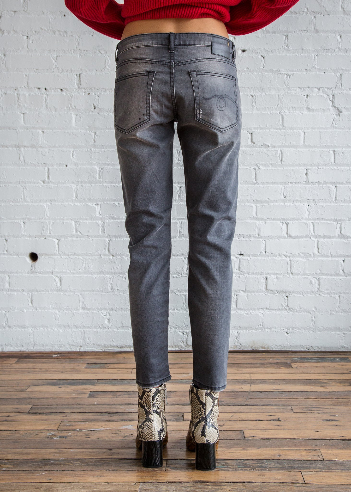 r13 Boy Skinny Grey Orion Denim