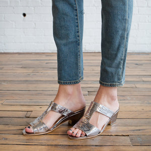 Cheekie Sandal in Gallina Foil