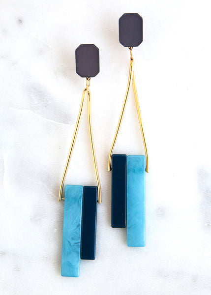 Rachel Comey March Earring Blue Acetate