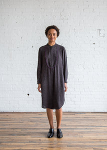 Raquel Allegra Bib Shirt Dress Black